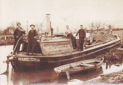 Mr. Abram far right. Boat family from Burscough.
